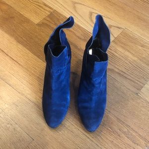 Nine West Blue Suede Shoes ( Booties )